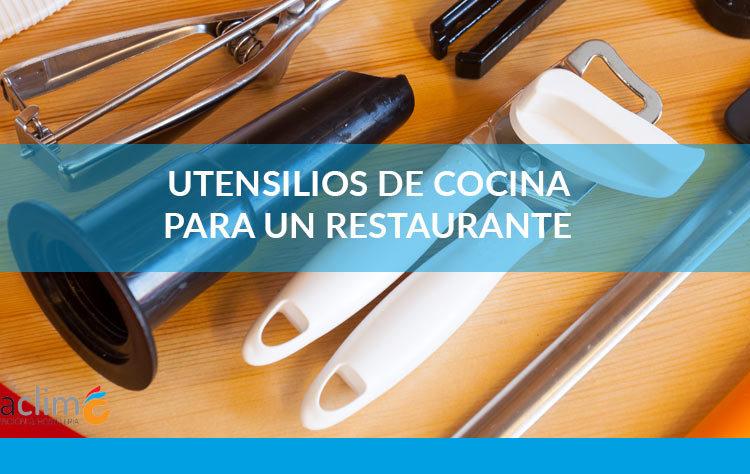 lista de utensilios de cocina para un resturante.