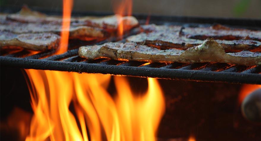 tipos comida barbacoa piedra volcanica fibraclim