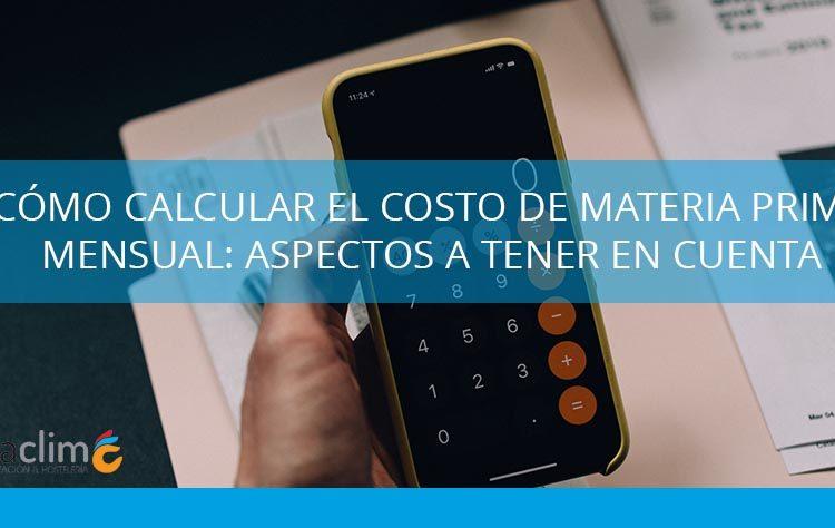 calcular el costo de materia prima