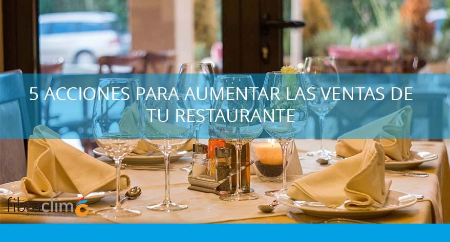 aumentar las ventas de tu restaurante