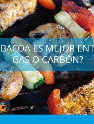barbacoa de gas o de carbon