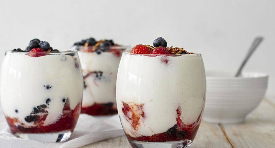 receta helado de yogurt